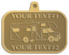 Ace Recognition Gold KeyTag, Medal, Pendant - with your text and logo - RV, RVs, Recreational Vehicles, campers, camping, motors, motor-homes, motorhomes, recreation, recreational, retire, retirement, tours, trailers, transportation, travel, travelers, trips, trucks, vacations, vans, vehicles, voyages, wheels