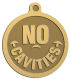 Ace Recognition Gold KeyTag, Medal, Pendant - with your text and logo - denistry, dentist, no cavities, denistry awards