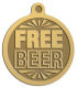 Ace Recognition Gold KeyTag, Medal, Pendant - with your text and logo - free, tokens, free tokens, free beer, beer, beer tokens