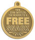 Ace Recognition Gold KeyTag, Medal, Pendant - with your text and logo - free, tokens, free snacks, snacks, snack tokens