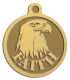 Ace Recognition Gold KeyTag, Medal, Pendant - with your text and logo - eagles, bird of prey, patriotic, inspirational, strength, symbol, democracy, United States, USA, bald eagle