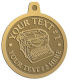Ace Recognition Gold KeyTag, Medal, Pendant - with your text and logo - typewriters, retro, antique, business, correspondence, editorial,  journalism, underwood, olympia, smith corona, business machines