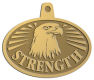 Ace Recognition Gold KeyTag, Medal, Pendant - with your text and logo - eagles, bird of prey, patriotic, inspirational, strength, symbol, democracy, United States, USA, bald eagle, navy