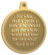 Ace Recognition Gold KeyTag, Medal, Pendant - with your text and logo - Christian Designs - For what shall it profit a man, if he shall gain the whole world, and lose his own soul?  Mark 8:36  religious, metal