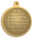 Ace Recognition Gold KeyTag, Medal, Pendant - with your text and logo - Christian Designs - For the wages of sin is death; but the gift of God is eternal life through Jesus Christ our Lord.  Romans 6:23  religious, metal