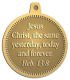 Ace Recognition Gold KeyTag, Medal, Pendant - with your text and logo - Christian Designs - Jesus Christ, the same yesterday, today and forever.  Hebrews 13:8  religious, metal