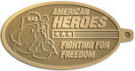 Ace Recognition Gold KeyTag - with your text and logo - Military - Fallen Soldier Memorial - Iraq - American Flag - American Heroes - Fighting For Freedom, metal, navy