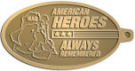 Ace Recognition Gold KeyTag - with your text and logo - Military - Fallen Soldier Memorial - Iraq - American Flag - American Heroes - Always Remembered, metal, navy