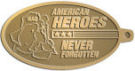Ace Recognition Gold KeyTag - with your text and logo - Military - Fallen Soldier Memorial - Iraq - American Flag - American Heroes - Never Forgotten, metal, navy