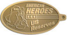 Ace Recognition Gold KeyTag - with your text and logo - Military - Fallen Soldier Memorial - Iraq - American Flag - American Heroes - US Reserves, metal, navy