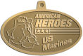 Ace Recognition Gold KeyTag, Medal, Pendant - with your text and logo - Military - Fallen Soldier Memorial - Iraq - American Flag - American Heroes - US Marines, metal, navy