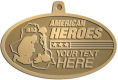 Ace Recognition Gold KeyTag, Medal, Pendant - with your text and logo - Military - Fallen Soldier Memorial - Iraq - American Flag - American Heroes, metal, navy