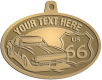 Ace Recognition Gold KeyTag, Medal, Pendant - with your text and logo - Car designs - US route 66 - vintage cars - sports car - your text, route 66, route sixty six, route sixty-six, historic highway, historic road, mother road, transportation, metal