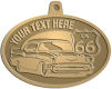 Ace Recognition Gold KeyTag, Medal, Pendant - with your text and logo - Car designs - US route 66 - vintage cars - classic cars - coupe - your text, route 66, route sixty six, route sixty-six, historic highway, historic road, mother road, transportation