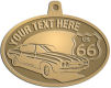Ace Recognition Gold KeyTag, Medal, Pendant - with your text and logo - Car designs - US route 66 - vintage cars - classic cars - sports car - your text, route 66, route sixty six, route sixty-six, historic highway, historic road, mother road, metal