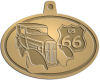 Ace Recognition Gold KeyTag, Medal, Pendant - with your text and logo - Car designs - US route 66 - vintage cars - classic cars - coupe - roadster - your text, route 66, route sixty six, route sixty-six, historic highway, historic road, mother road