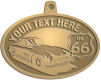 Ace Recognition Gold KeyTag, Medal, Pendant - with your text and logo - Car designs - US route 66 - vintage cars - classic cars - sports car - your text, route 66, route sixty six, route sixty-six, historic highway, historic road, mother road, transportation