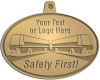Ace Recognition Gold KeyTag, Medal, Pendant - with your text and logo - Bus Designs - your text, buses, bus, transportation, metal