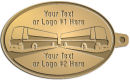 Ace Recognition Gold KeyTag - with your text and logo - Bus Designs - Safety First, buses, bus, transportation, metal