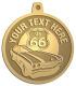 Ace Recognition Gold KeyTag, Medal, Pendant - with your text and logo - Car Designs - US route 66 - classic car- roadster - sports car - vintage cars - your text, route 66, route sixty six, route sixty-six, historic highway, historic road, mother road