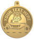 Ace Recognition Gold KeyTag, Medal, Pendant - with your text and logo - Car Designs - US route 66 - classic car - roadster - vintage cars - coupe - your text, transportation, metal