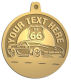 Ace Recognition Gold KeyTag, Medal, Pendant - with your text and logo - Car Designs - US route 66 - classic car - roadster - vintage cars - corvette - your text, transportation, metal