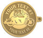Ace Recognition Gold KeyTag - with your text and logo - Motorcycle Designs - US 66 - route 66 - motorcycle - your text,   chopper, motorcycles, motor bikes, racing, motor, motorsports, motor-sports, transportation, metal