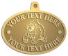 Ace Recognition Gold KeyTag, Medal, Pendant - with your text and logo - Sports, mascots, sports, animals, gorillas, teams, high school, college, university