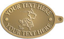 Ace Recognition Gold KeyTag - with your text and logo - Sports, mascots, sports, birds, teams, high school, college, university