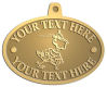 Ace Recognition Gold KeyTag, Medal, Pendant - with your text and logo - Sports, mascots, sports, birds, teams, high school, college, university