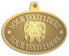 Ace Recognition Gold KeyTag, Medal, Pendant - with your text and logo - Sports, mascots, animals, teams, high school, college, university