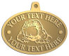 Ace Recognition Gold KeyTag, Medal, Pendant - with your text and logo - Sports, mascots, sports, animals, bull dogs, canines, teams, high school, college, university
