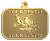 Ace Recognition Gold KeyTag, Medal, Pendant - with your text and logo - Sports, mascots, sports, reptiles, crocodiles, alligators, teams, high school, college, university