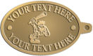 Ace Recognition Gold KeyTag - with your text and logo - Cavemen, caveman, prehistoric, primal