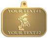 Ace Recognition Gold KeyTag, Medal, Pendant - with your text and logo - Cavemen, caveman, prehistoric, primal