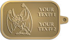 Ace Recognition Gold KeyTag - with your text and logo - Sports, mascots, bats, high school, college, university