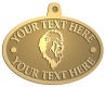 Ace Recognition Gold KeyTag, Medal, Pendant - with your text and logo - Sports, mascots, lions, cats, high school, college, university