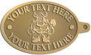 Ace Recognition Gold KeyTag - with your text and logo - Sports, mascots, vikings, norsemen, high school, college, university