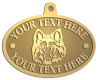 Ace Recognition Gold KeyTag, Medal, Pendant - with your text and logo - Sports, mascots, sports, animals, dogs, canines, teams, high school, college, university