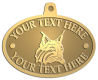 Ace Recognition Gold KeyTag, Medal, Pendant - with your text and logo - Sports, mascots, animals, high school, college, university