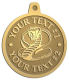 Ace Recognition Gold KeyTag, Medal, Pendant - with your text and logo - Tribal, tattoos, snakes, cobras