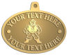 Ace Recognition Gold KeyTag, Medal, Pendant - with your text and logo - Sports, mascots, martial arts, warriors, high school, college, university