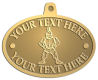 Ace Recognition Gold KeyTag, Medal, Pendant - with your text and logo - Sports, mascots, soldiers, roman soldiers, high school, college, university