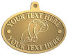 Ace Recognition Gold KeyTag, Medal, Pendant - with your text and logo - Sports, mascots, gorillas,primates, high school, college, university