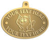 Ace Recognition Gold KeyTag, Medal, Pendant - with your text and logo - Sports, mascots, cats, felines, high school, college, university