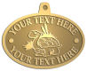 Ace Recognition Gold KeyTag, Medal, Pendant - with your text and logo - Sports, mascots, turtles, amphibians, high school, college, university