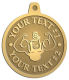 Ace Recognition Gold KeyTag, Medal, Pendant - with your text and logo - Men, man, bodybuilding, body-building, weightlifting