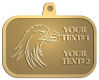 Ace Recognition Gold KeyTag, Medal, Pendant - with your text and logo - Sports, mascots, birds, eagles, hawks, ospreys, birds of prey, predators