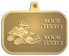 Ace Recognition Gold KeyTag, Medal, Pendant - with your text and logo - all terrain vehicles, atv, atvs, off road, off-road, 4-wheeler, atv, bike,drive, fast, four, machine, motocross, off-road, power, powerful, quad, race, red, ride, road, sky, sport, tires, tool, traction, trail, transport, transportation, wheel