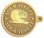 Ace Recognition Gold KeyTag - with your text and logo - waves, surfboard, surfing, surfers, surf, tropical, tropics, water, wind, boarding, dynamic, energy, sea, speed, splash, sport